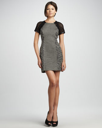 Tweed Panel Dress