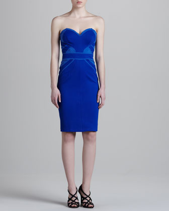 Jersey Corset Dress, Cobalt