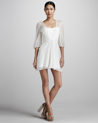 Sheer Chiffon Cocktail Dress