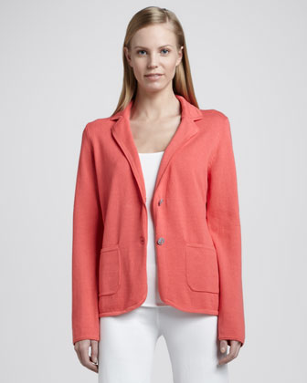 Knit Two-Button Blazer