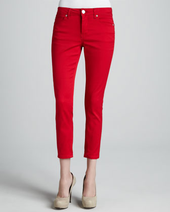 Abby-Skinny Cropped Jeans, Solid Colors