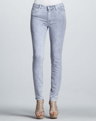 High-Rise Color Spray Midnight Skinny Jeans