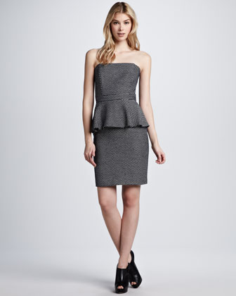 Natalya Strapless Peplum Dress
