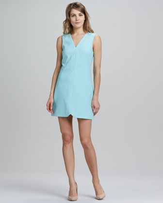 V-Neck Notch-Hem Sleeveless Dress