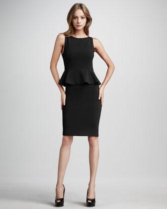 Tracey Peplum Dress, Black