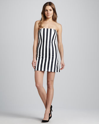 Nyla Striped Strapless Dress