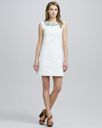 Treya Beaded Shift Dress