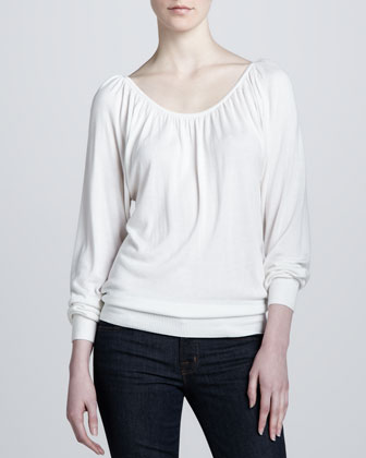 Knit Peasant Top