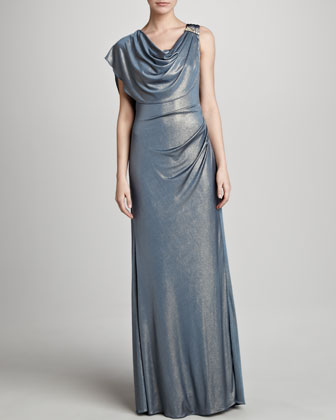 Drape-Neck Gown