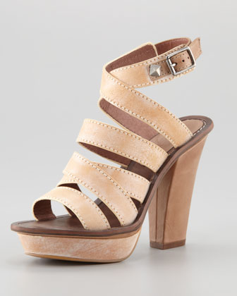 Hartford Platform Sandal, Natural