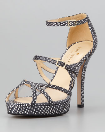 riley mini polka dot sandal