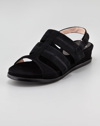 Shirley Stretchy Slingback Sandal, Black