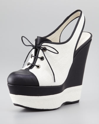 Itsatie Canvas Slingback Wedge Sandal