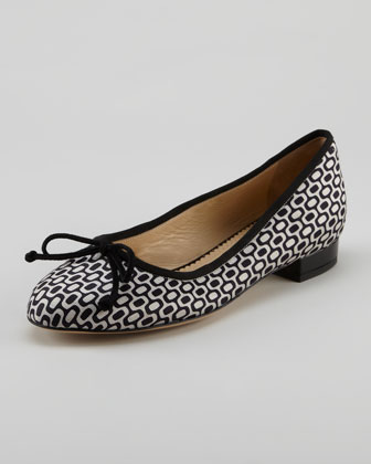 Darcy Optic-Print Ballerina Flat
