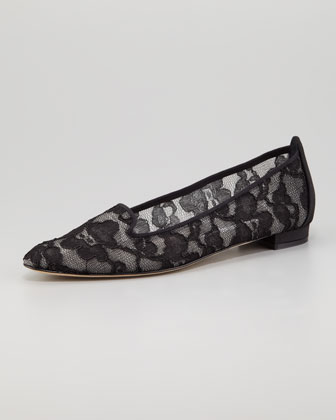 Sharifac Lace Smoking Slipper
