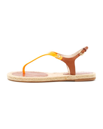 Stephy PVC/Leather Thong Sandal