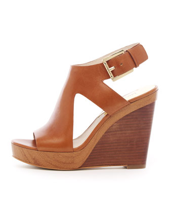 Josephine Leather Wedge Sandal
