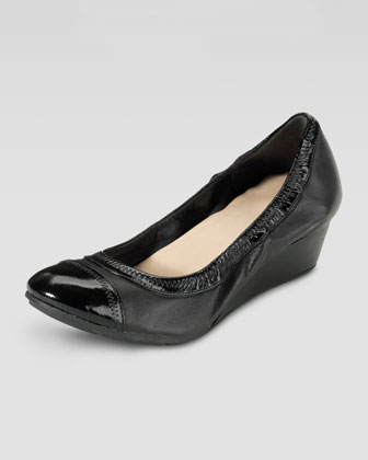 Milly Mid Wedge Ballerina, Black