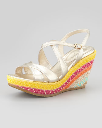Effie Braided Raffia Wedge Sandal