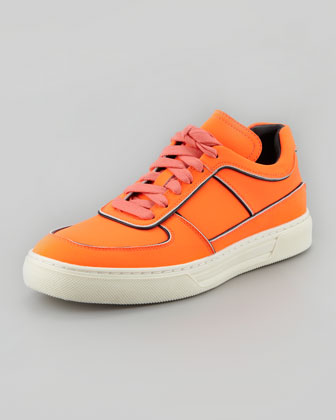 Toby Reflex Sneaker, Fluorescent Orange