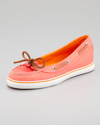 Lola Canvas Slip-On Sneaker, Neon Salmon