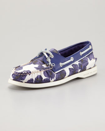 Milly for Sperry Slip-On, Blue Floral