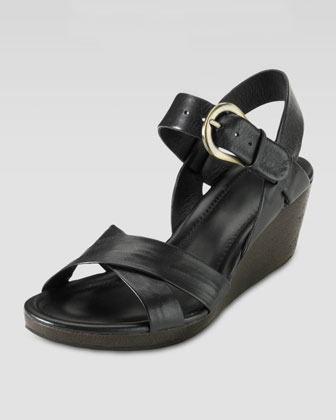 Air Tali Low Wedge Sandal, Black