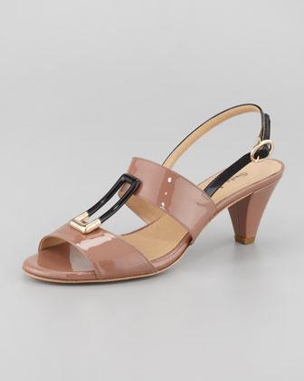 Gale Patent Slingback Sandal, Rust