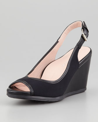 Darlena Stretch Slingback Wedge