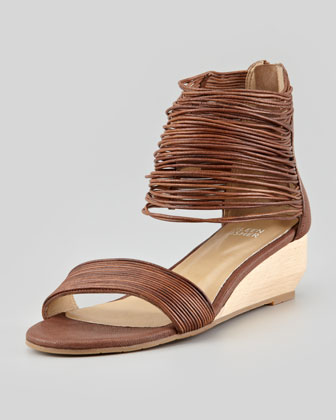 Halo Strappy Wedge Sandal, Coco