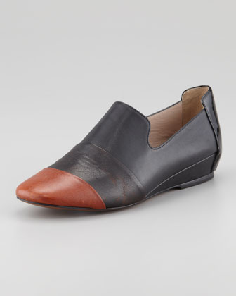 Lex Smoking Slipper, Oak/Black