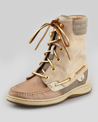 Linen and Sparkle Suede Hiker