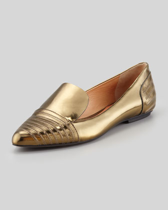 Iva Mirrored Stitched-Toe Slipper