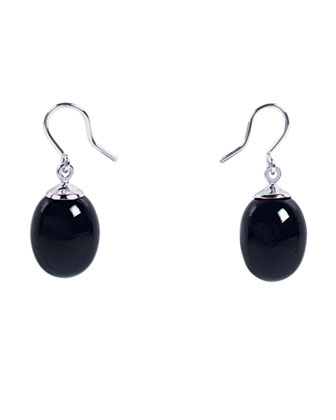 Mini Tentation Earrings, Onyx