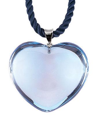Glamour Heart Pendant, Aquamarine
