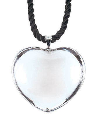 Glamour Heart Pendant, Clear