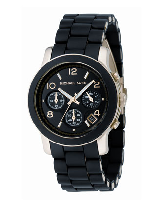 Midsized PU Chronograph Watch