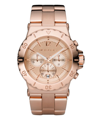 Rose Golden Chronograph Watch