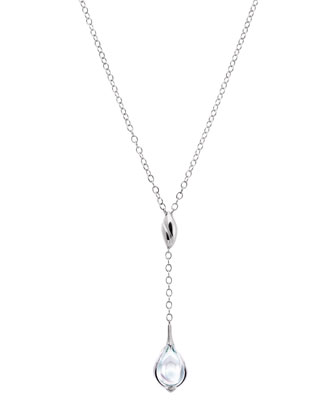 Fleurs De Psydelic Clear Necklace, Small