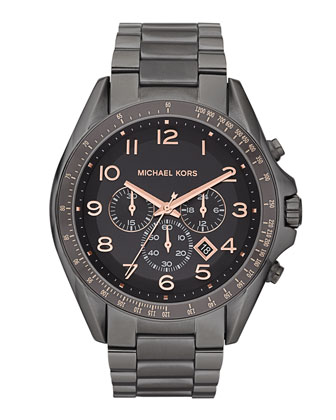 Oversize Men's Bradshaw Watch, Gunmetal