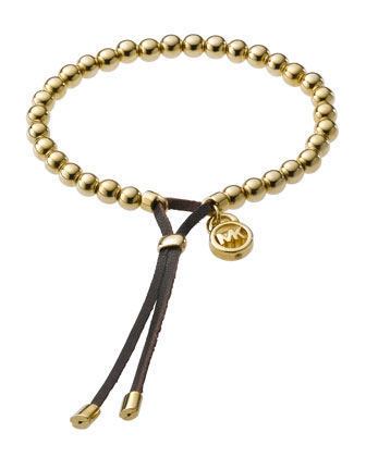 Bead Stretch Bracelet, Golden