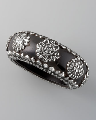 Resin Bangle, Black