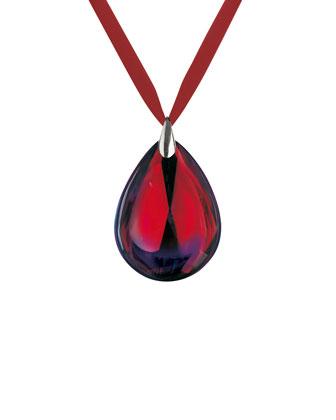 Psydelic Ruby-Hued Sterling Pendant