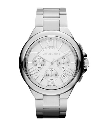 Mid-Size Silver Color Stainless Steel Camille Chronograph Watch