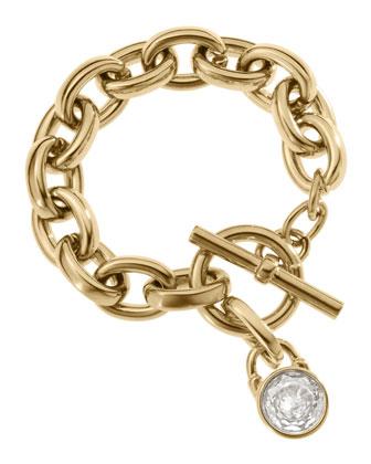 Chain-Link Padlock Bracelet, Golden
