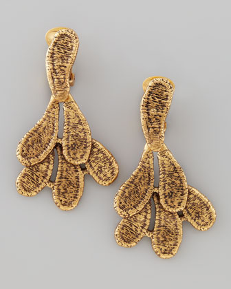 Cast Lace Clip Earrings