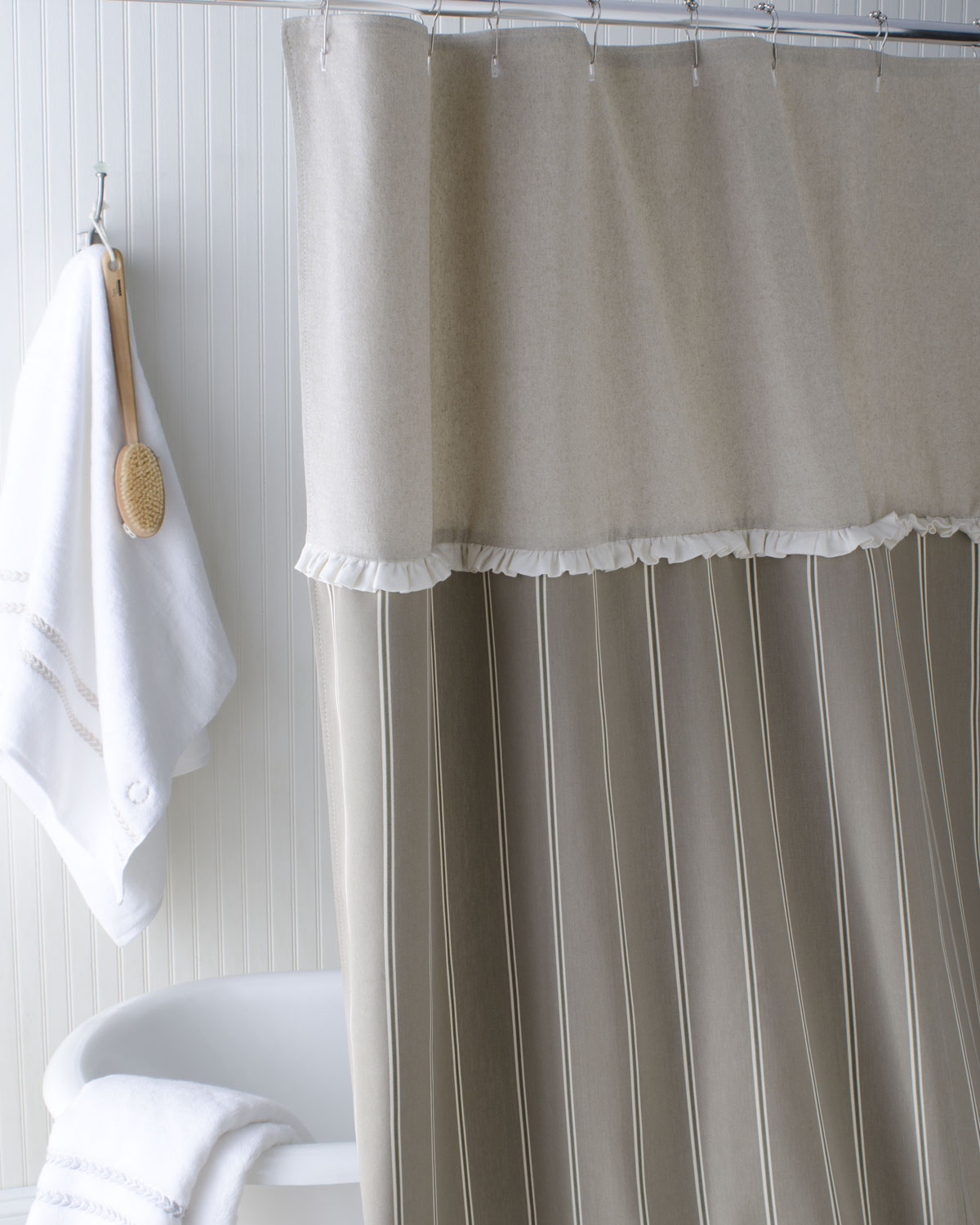French Stripe Shower Curtain   French Laundry Home