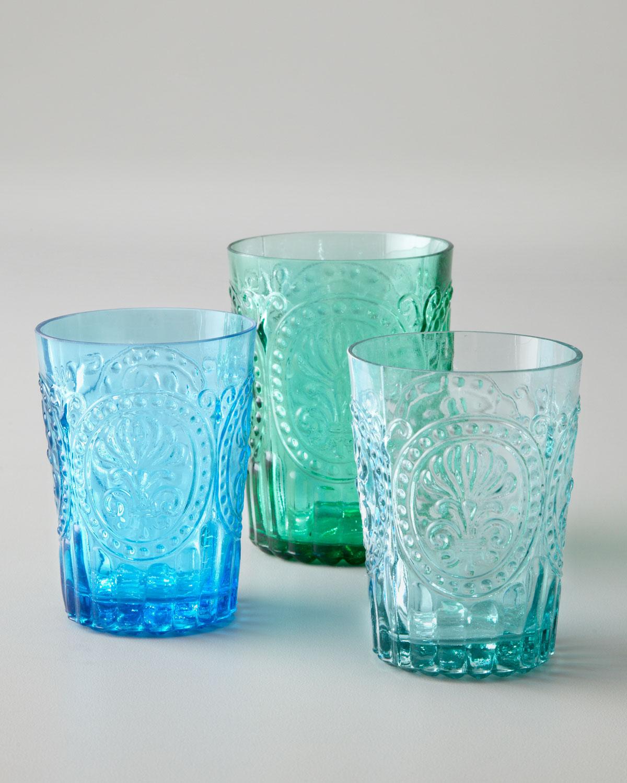 Six Fleur-de-Lis Juice Glasses - Neiman Marcus