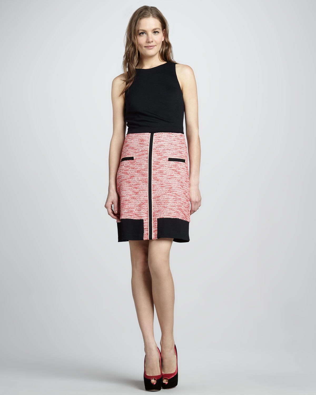 Womens Sleeveless Colorblock Dress   Phoebe Couture   Black multi (8)