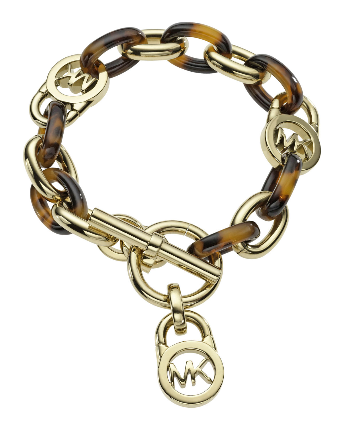 MICHAEL Michael Kors Toggle Link Bracelet, GOLDEN
